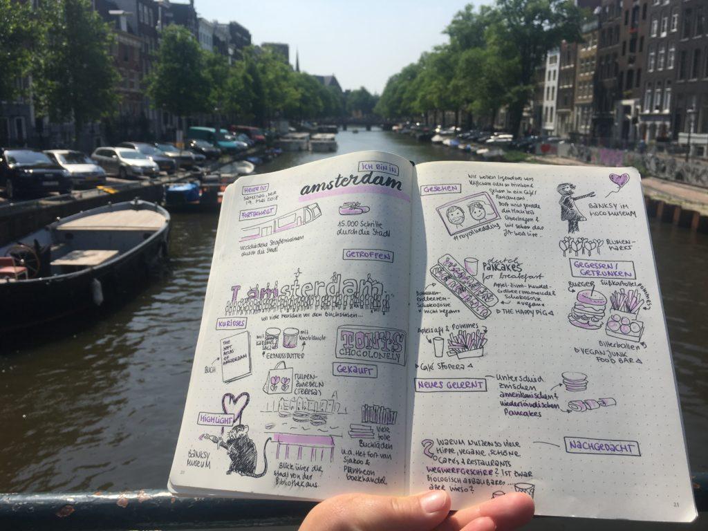 Reisesketchnotes Amsterdam