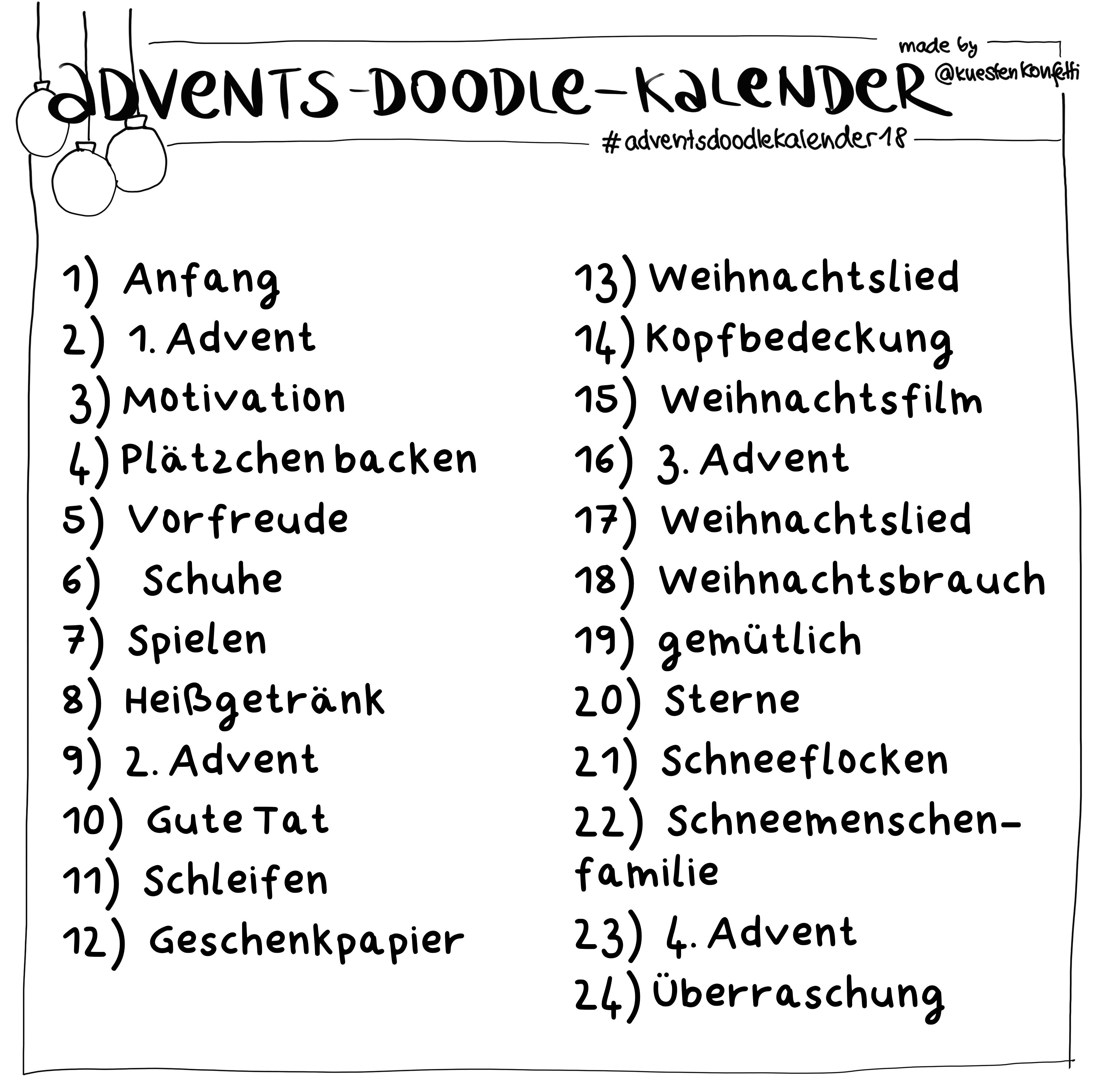 Advents-Doodle-Kalender 2018 * Katharina Bluhm