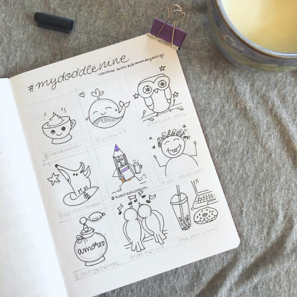 bestnine2019 instagram küstenkonfetti: bullet journal, mydoodlenine