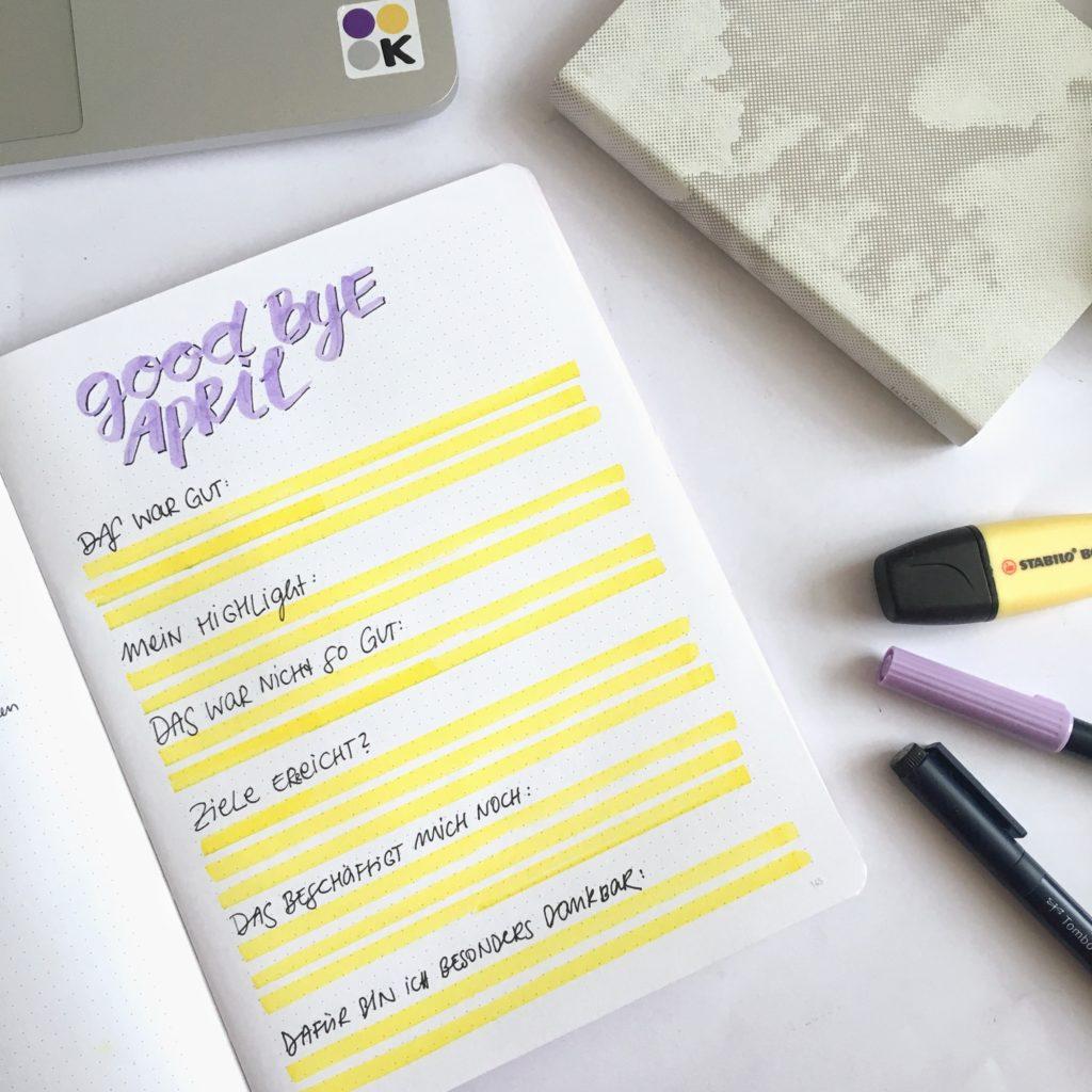 bestnine2019 instagram küstenkonfetti: bullet journal, achtsamkeit