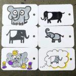 Tiere zeichnen: Elefanten und Pinguine